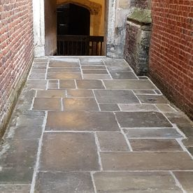 Walkway replacement and repair of a heritage buildings